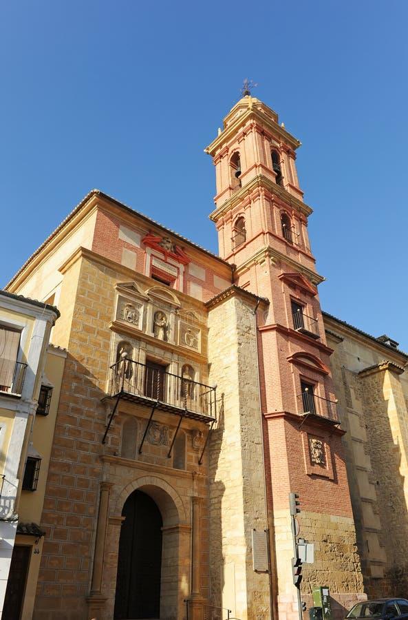 Kyrka av St Augustine, Antequera, Malaga landskap, Spanien arkivfoto