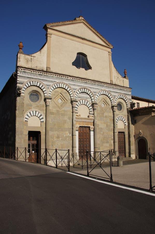 Kyrka av St Bartolomeo i Pantano, Pistoia, Italien fotografering för bildbyråer