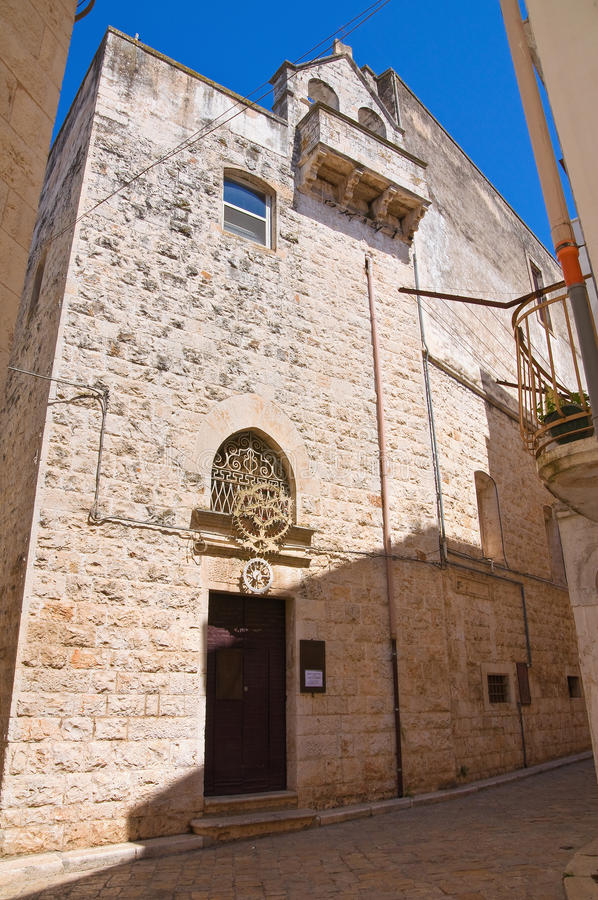 Kyrka av St. Chiara. royaltyfri fotografi