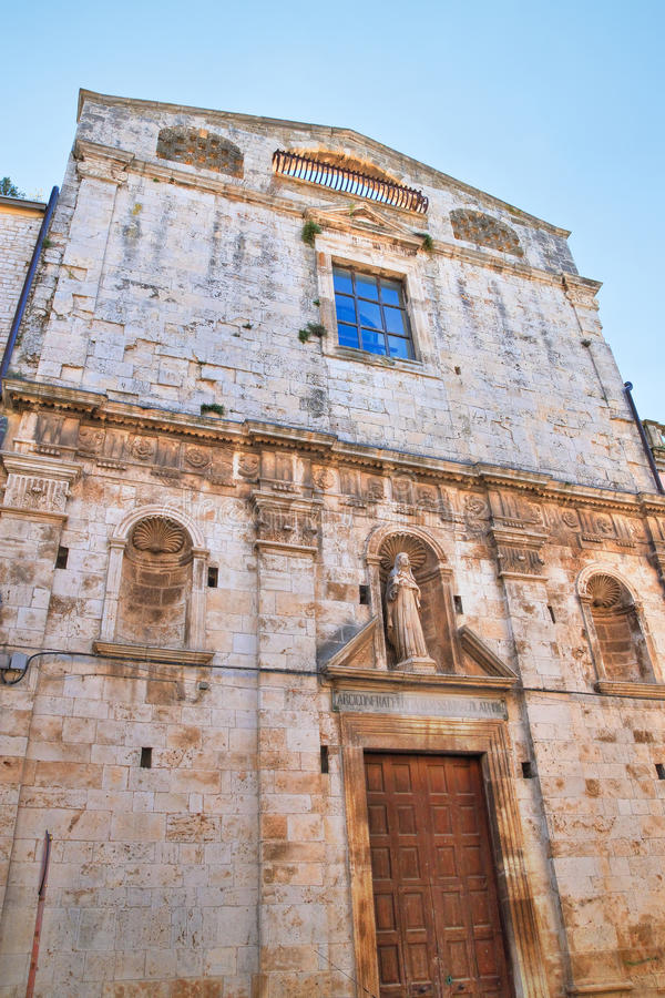 Kyrka av St Chiara Acquaviva delle Fonti Puglia italy royaltyfria bilder