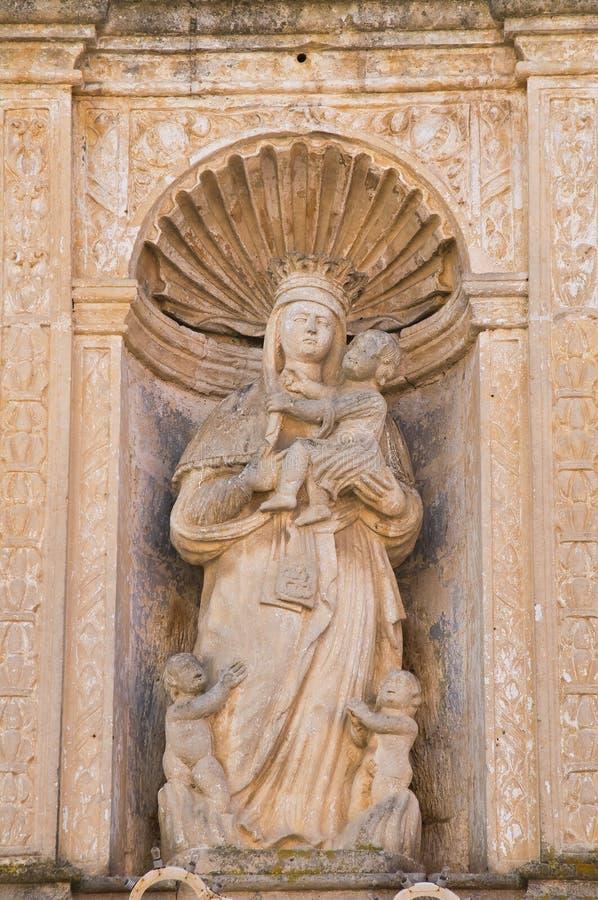 Kyrka av St Chiara Matera Basilicata italy royaltyfri fotografi