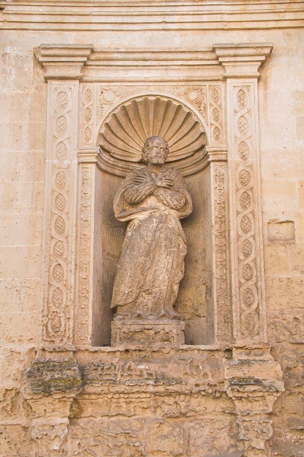 Kyrka av St Chiara Matera Basilicata italy royaltyfria bilder