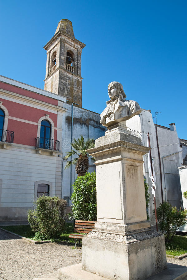 Kyrka av St Chiara Noci Puglia italy royaltyfria foton