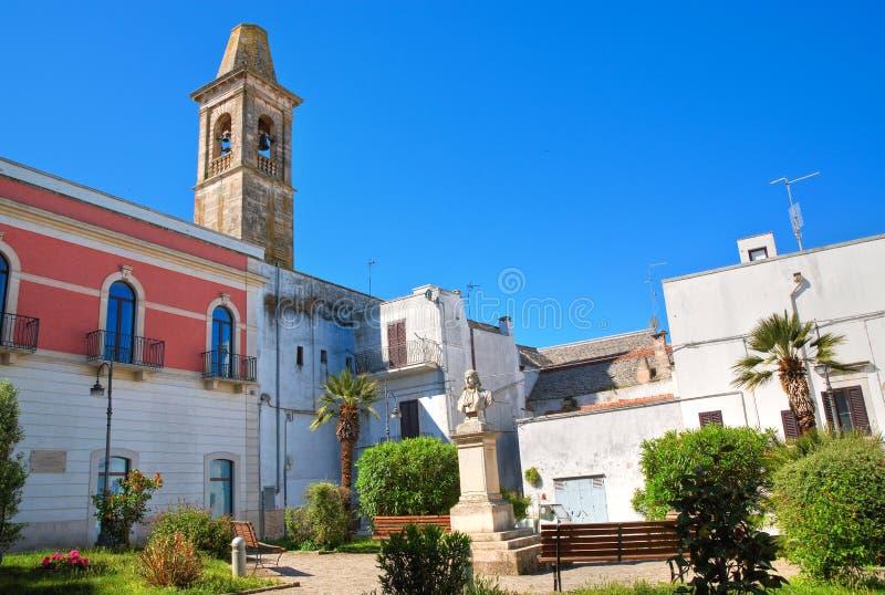 Kyrka av St Chiara Noci Puglia italy fotografering för bildbyråer