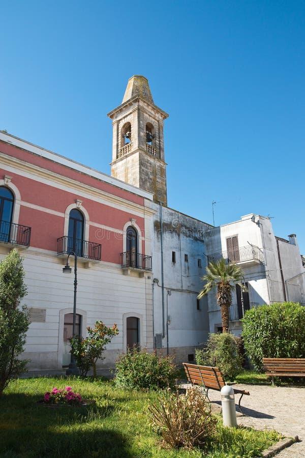 Kyrka av St Chiara Noci Puglia italy arkivbild