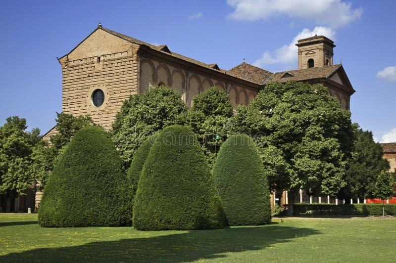 Kyrka av St Christopher i Certosa av Ferrara italy arkivfoton