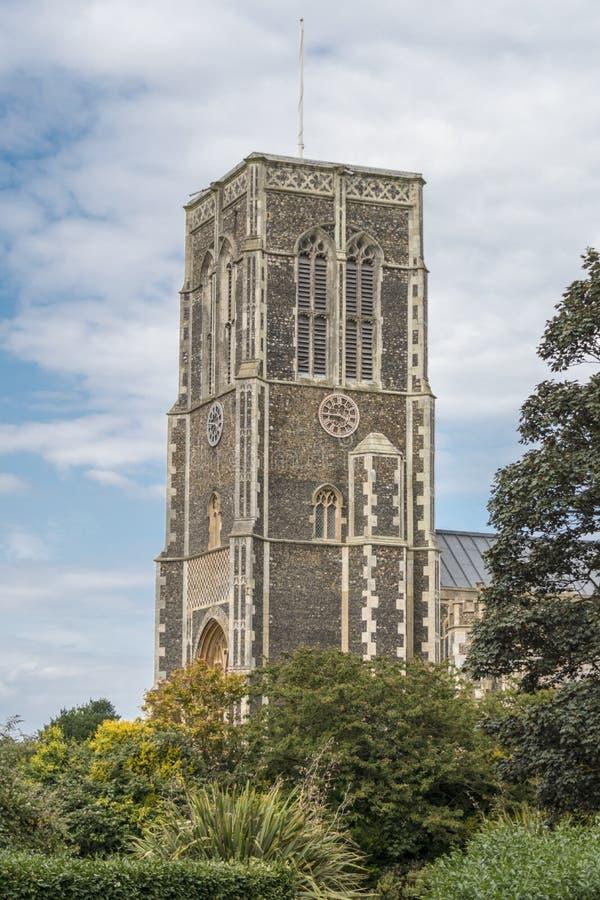 Kyrka av St Edmund, konung och martyr, Southwold arkivbild