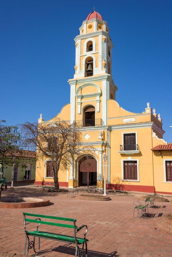 Kyrka av St Francis av Assini, Trinidad, Kuba royaltyfria bilder