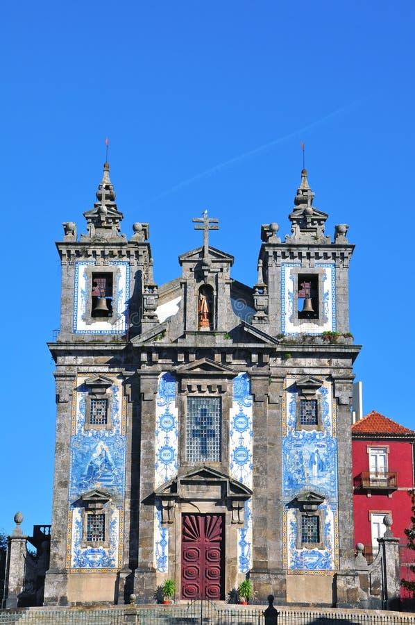 Kyrka av St. Ildefonso i Porto, Portugal arkivfoton