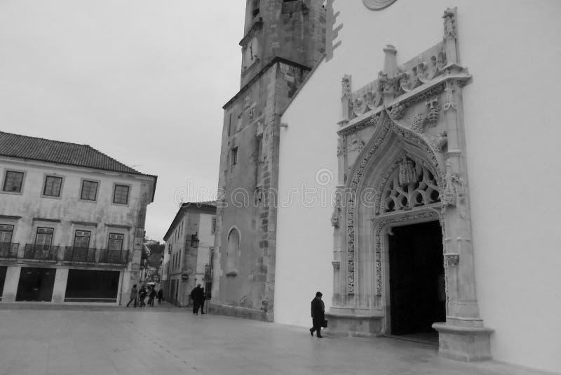Kyrka av St John Baptist Tomar Portugal royaltyfri fotografi