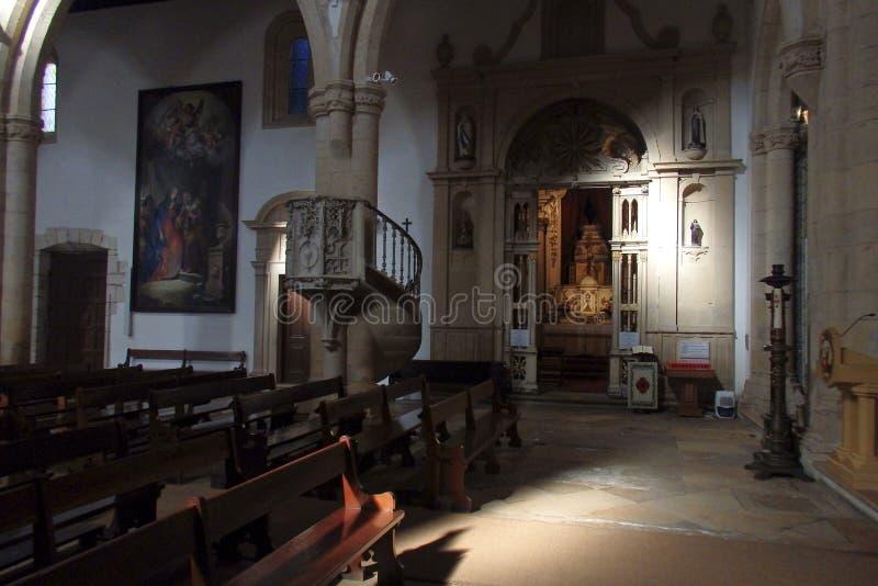 Kyrka av St John Baptist Tomar Portugal arkivfoto