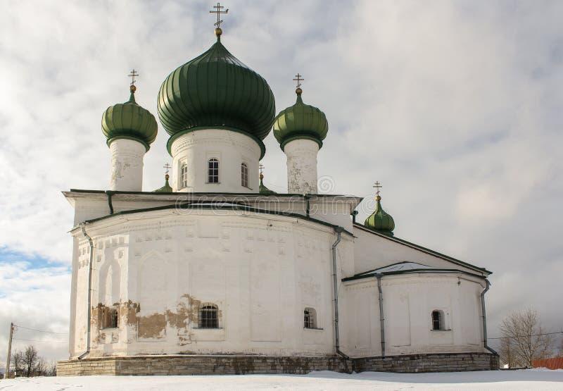 Kyrka av St John det baptistiskt i gamla Ladoga arkivfoton