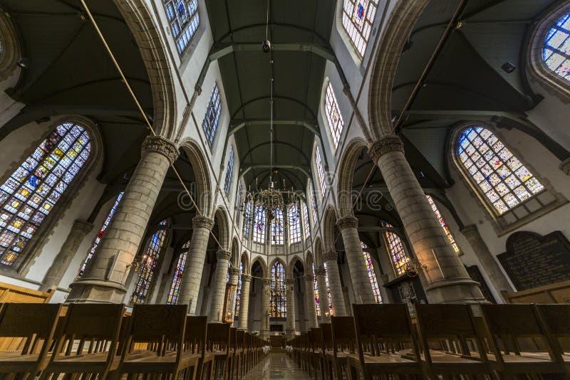 Kyrka av St John, gouda royaltyfri fotografi