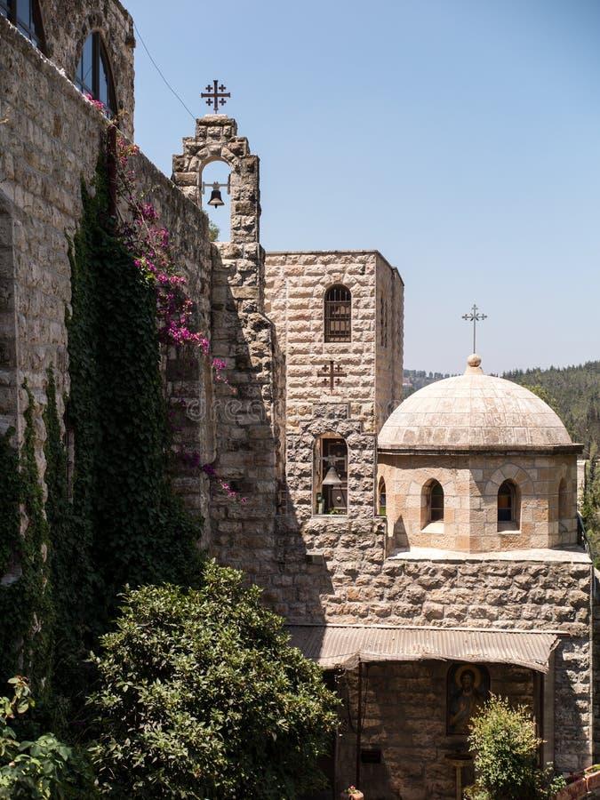 Kyrka av St John i öknen, området av Jerusalem royaltyfri foto