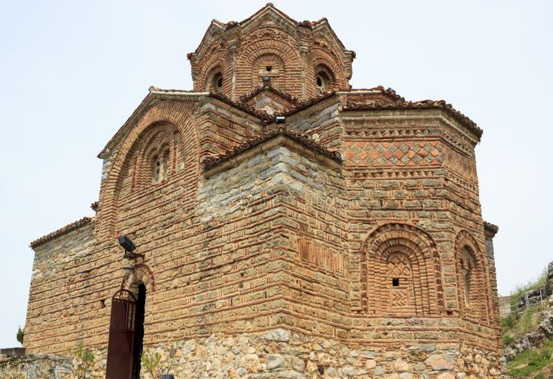 Kyrka av St John Kaneo i Ohrid, Makedonien arkivbild