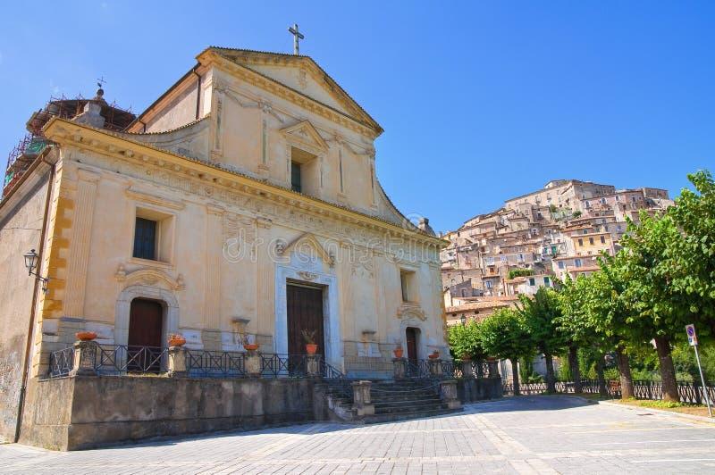 Kyrka av St Maria Maddalena Morano Calabro Calabria italy arkivfoton
