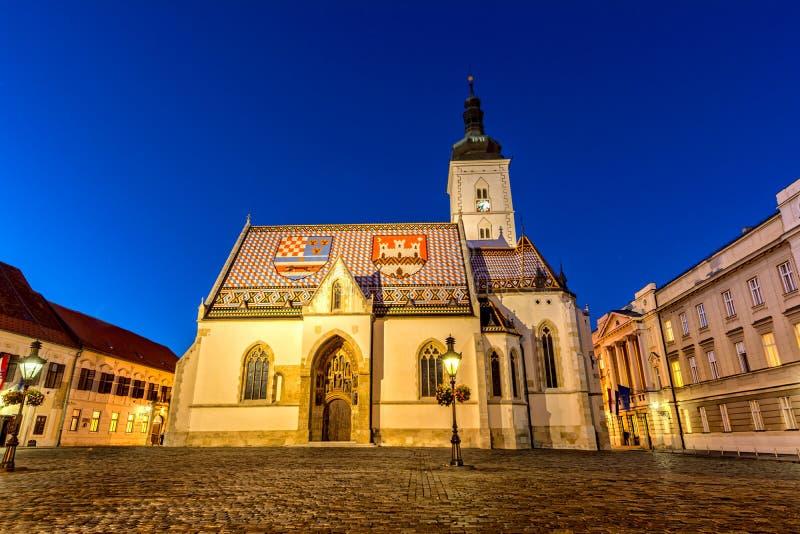 Kyrka av St Mark i Zagreb fotografering för bildbyråer