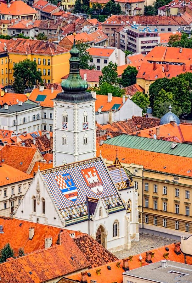 Sts Mark kyrkliga Zagreb fotografering för bildbyråer