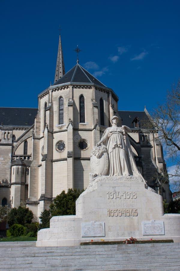 Kyrka av St Martin i Pau royaltyfri fotografi