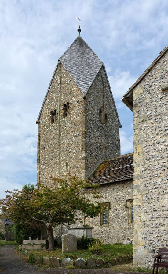 Kyrka av St Mary, den välsignade oskulden, Sompting, Sussex, UK royaltyfria bilder