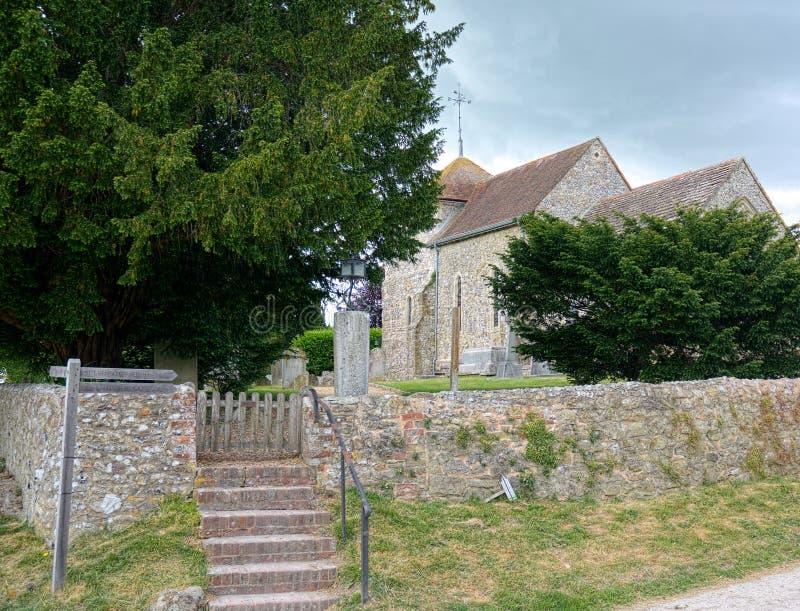 Kyrka av St Mary ` s Sullington sussex UK royaltyfria foton