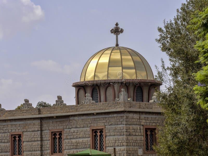Kyrka av St Mary av Zion, var kapellet lokaliseras, var tillflykten av överenskommelsen hålls allegedly ethiopia arkivbilder