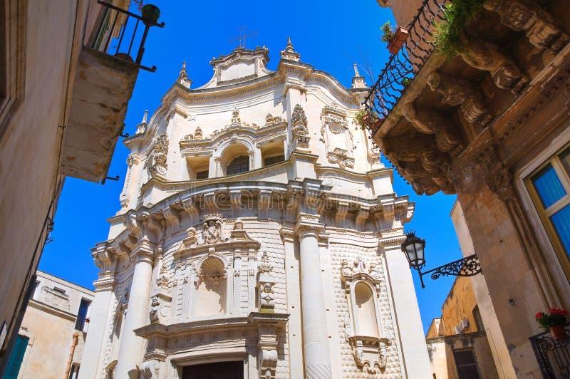 Kyrka av St. Matteo. Lecce. Puglia. Italien. fotografering för bildbyråer