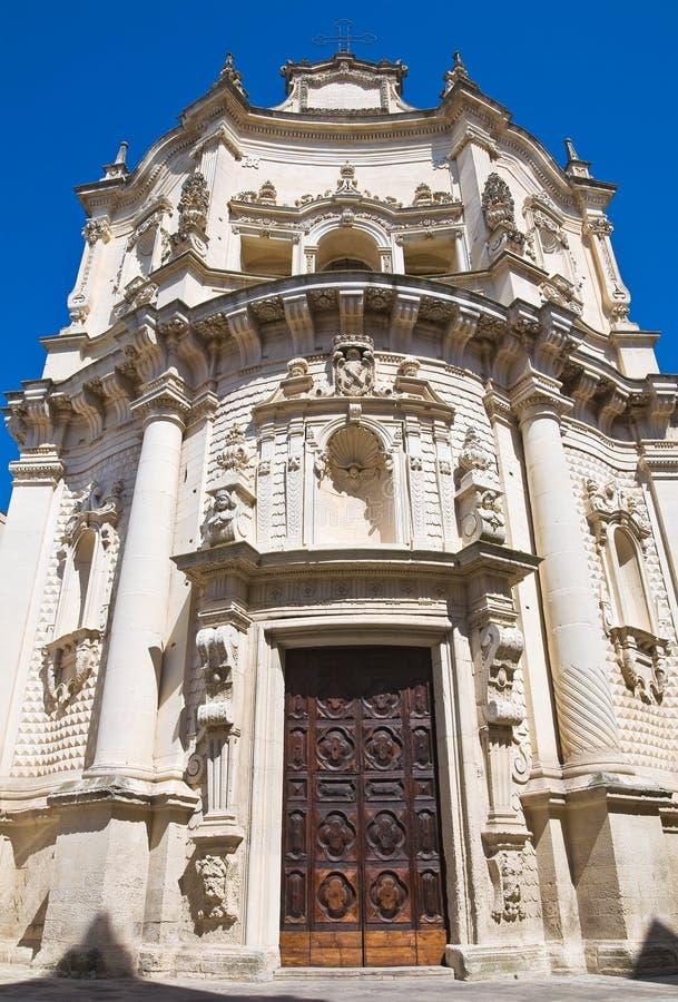 Kyrka av St. Matteo. Lecce. Puglia. Italien. arkivfoton