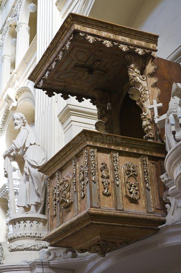 Kyrka av St. Matteo. Lecce. Puglia. Italien. royaltyfria bilder
