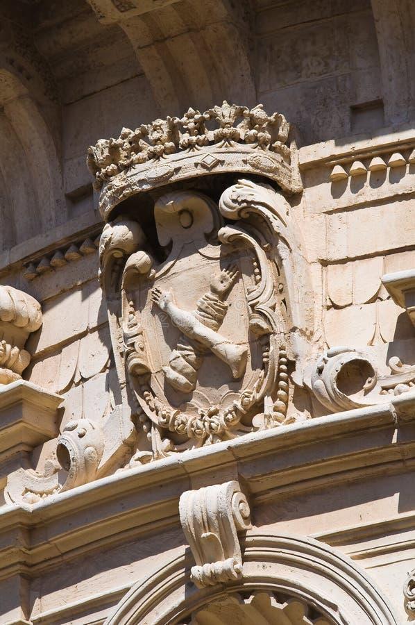 Kyrka av St. Matteo. Lecce. Puglia. Italien. royaltyfri bild