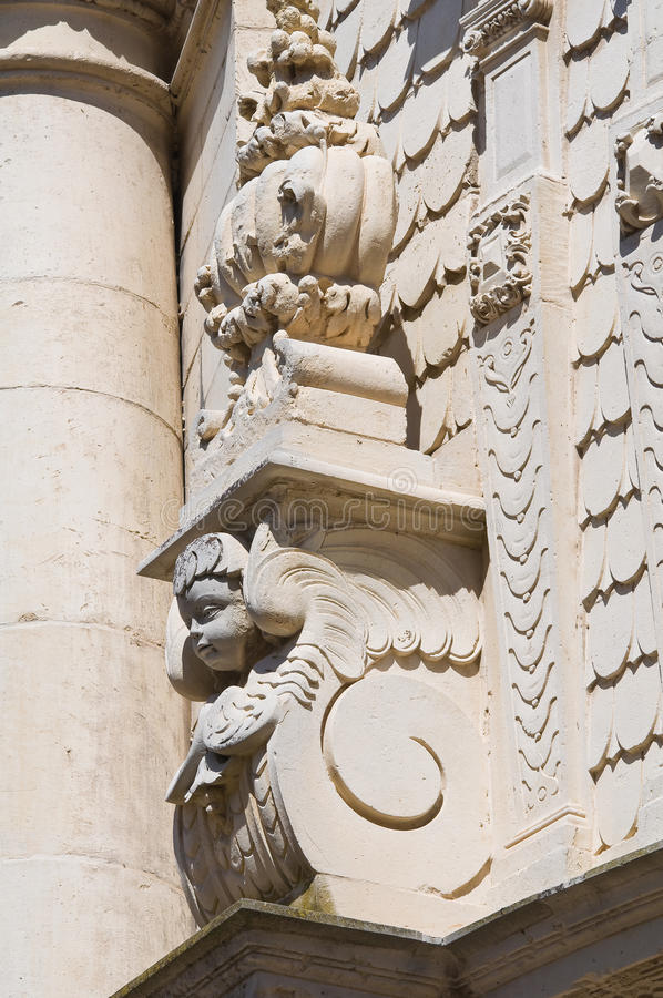 Kyrka av St. Matteo. Lecce. Puglia. Italien. royaltyfri foto