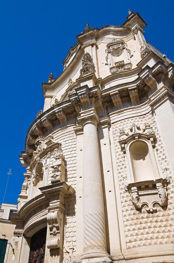 Kyrka av St. Matteo. Lecce. Puglia. Italien. royaltyfri fotografi