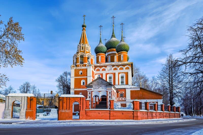 Kyrka av St Michael ärkeängeln i Yaroslavl, Ryssland royaltyfri bild