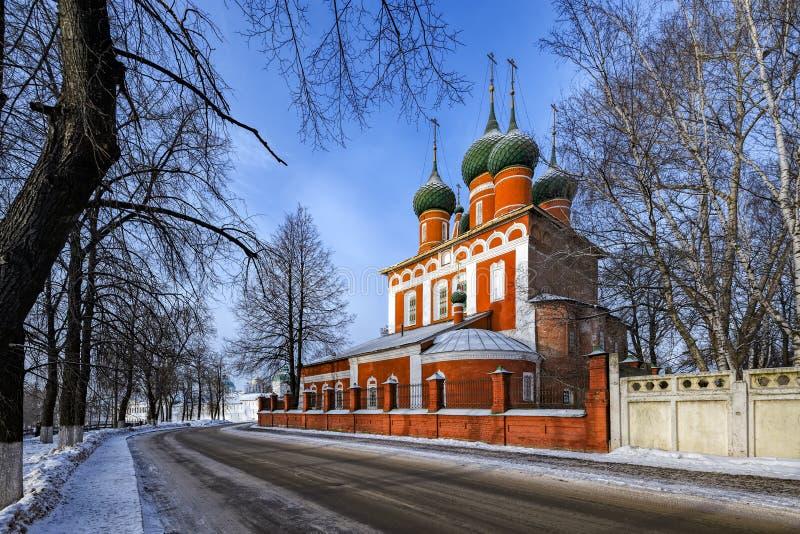 Kyrka av St Michael ärkeängeln i Yaroslavl, Ryssland royaltyfri foto