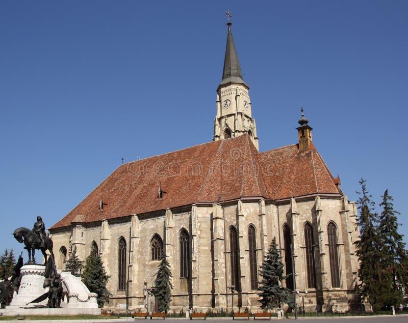 Kyrka av St Michael i Cluj-Napoca (Rumänien) fotografering för bildbyråer