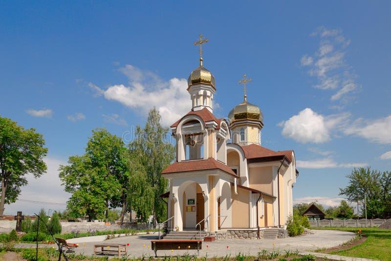 Kyrka av St Nicholas i det byRomanowicz Gomel området, Vitryssland arkivfoto