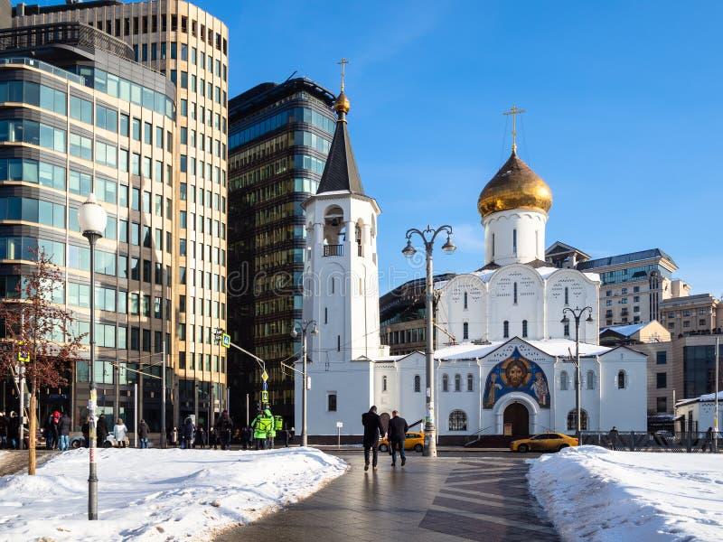 Kyrka av St Nicholas på Tverskaya Zastava royaltyfri bild