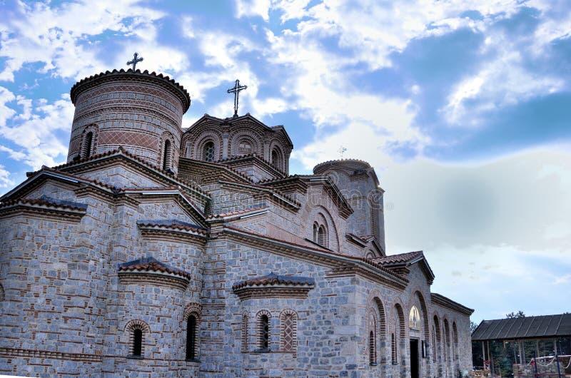 Kyrka av St Panteleimon, Ohrid, Makedonien royaltyfri foto