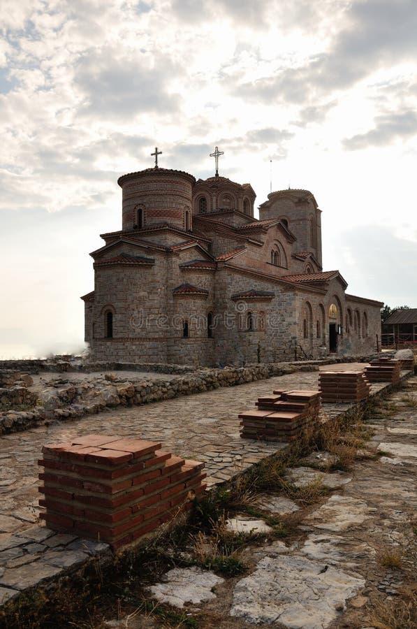 Kyrka av St Panteleimon, Ohrid, Makedonien royaltyfri fotografi