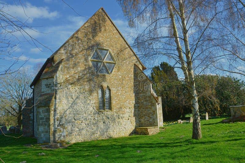 Kyrka av St Paul, Elsted, Sussex, UK royaltyfria foton