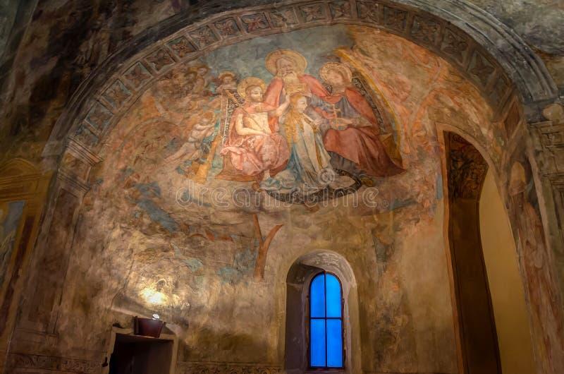 Kyrka av St Peter, Lindau, Tyskland, Peterskirche, Bodensee, Bayern fotografering för bildbyråer