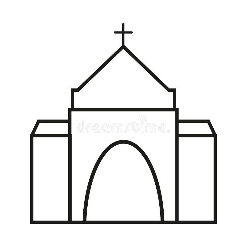 Kyrka av symbolsreligionen för kristendomen vektor illustrationer