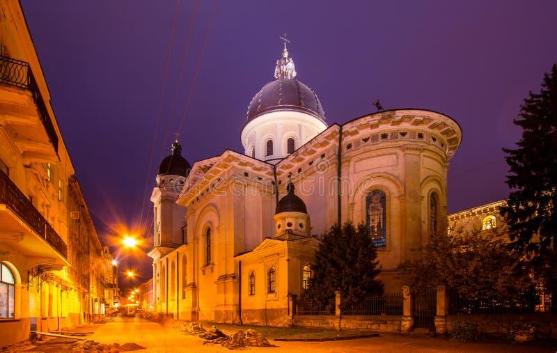 Kyrka av transfiguration, Lviv royaltyfria bilder