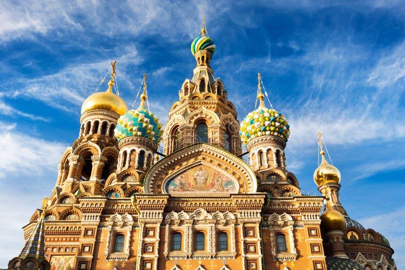 Kyrka av uppståndelsen av Kristus (frälsaren på spillt blod), St Petersburg, Ryssland royaltyfri bild