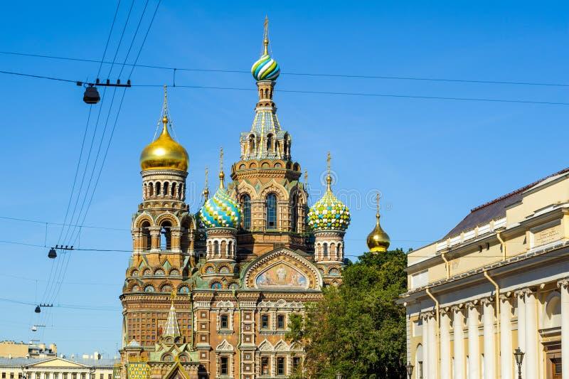 Kyrka av uppståndelsen av Kristus, St Petersburg arkivbilder