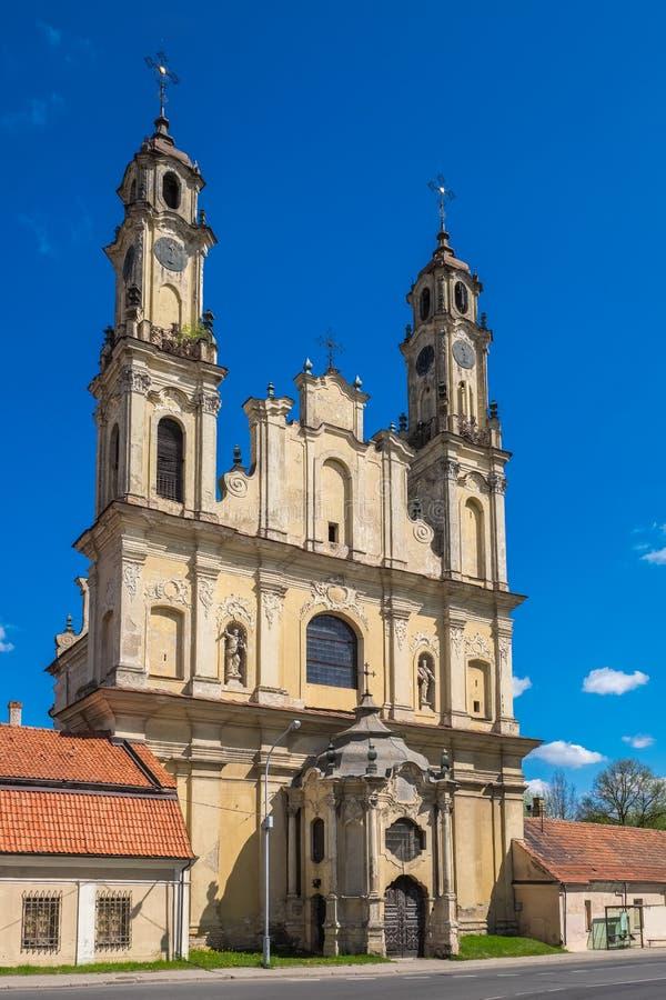 Kyrka av uppstigningen av Herren, Vilnius, Litauen arkivfoto