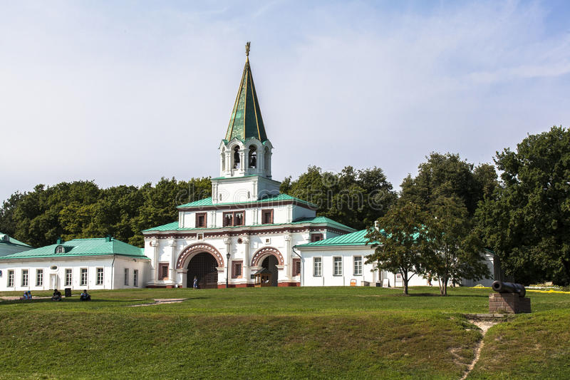 Kyrka av uppstigningen, Kolomenskoye, Rusia royaltyfria bilder