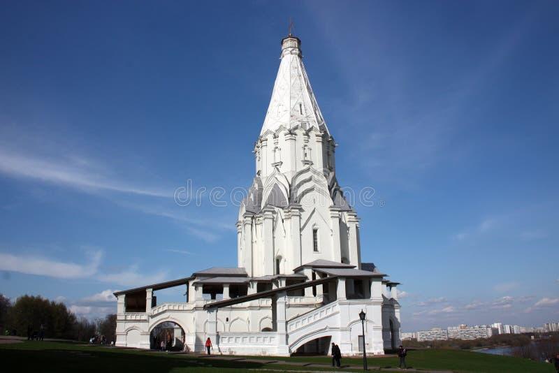 Kyrka Av Uppstigningen. Ryssland Moskva Arkivfoto