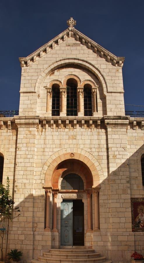 Kyrka av vår dam av konvulsionen i Jerusalem israel arkivbild
