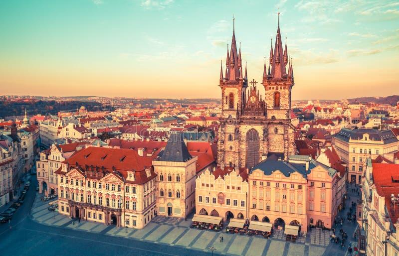 Kyrka av vår dam för Tyn Prague royaltyfri fotografi